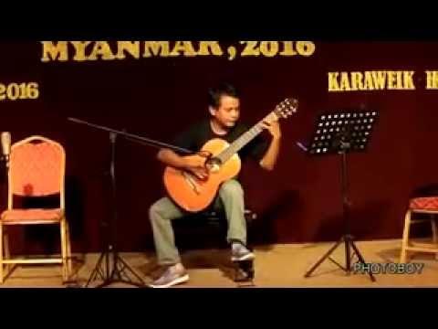 Classical Guitar Concert Myanmar, 2016 playing by Moe Myint Soe