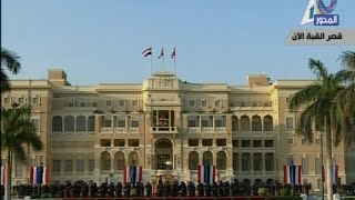 بالفيديو .. لحظة وصول الرئيسان السيسي وفرانسوا أولاند لقصر القبة