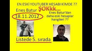 En eski youtuber kim?ilk youtube hesabını kim açtı (Barış özcan , ruhi çenet , reynmen hangisi?)vid3