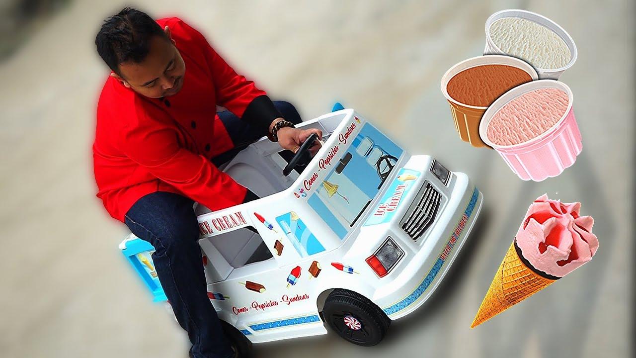 Papa Jualan Es Krim Beneran Drama Mobil Ice Cream Mainan Anak Youtube