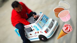 PAPA JUALAN ES KRIM BENERAN 😍 Drama Mobil Ice Cream Mainan Anak