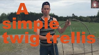How to make a simple small twig trellis