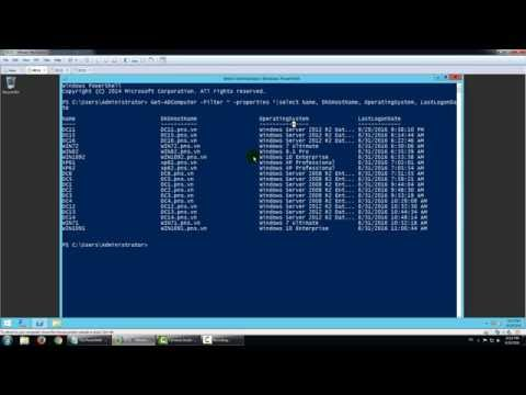 Use PowerShell : Get all computer list in domain