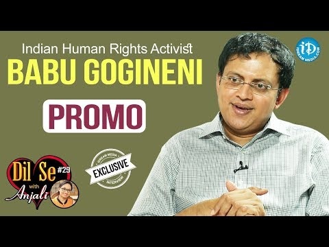 Indian Human Rights Activist Babu Gogineni Exclusive Interview - Promo || Dil Se With Anjali #29
