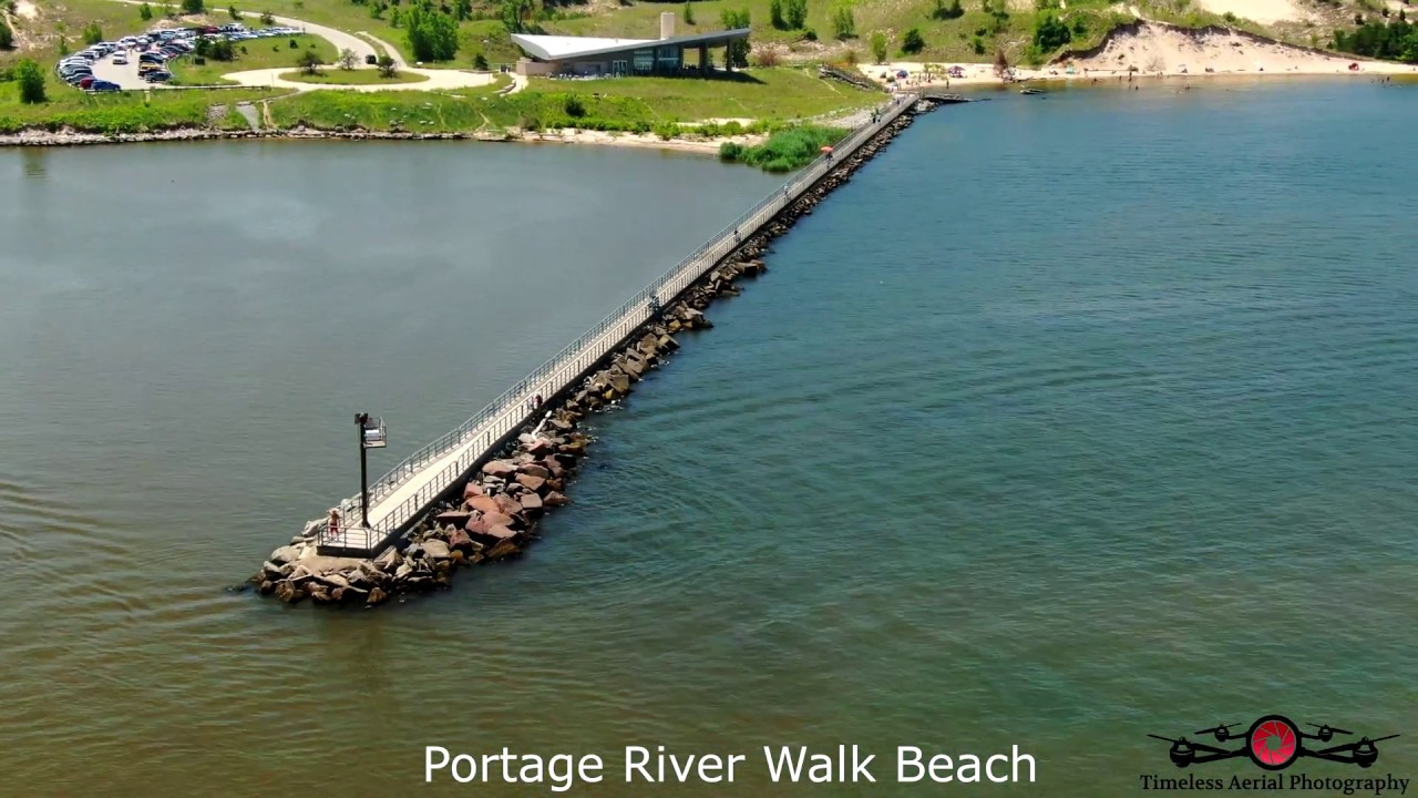 Indiana Shoreline 4th of July Shoreline Tour Lake Street to Long Beach 4K Drone Footage Must See!