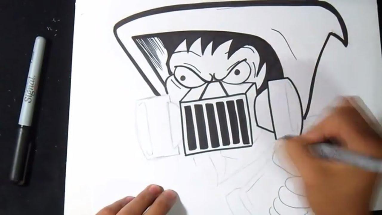 comment dessiner personnage avec un masque gaz graffiti youtube. Black Bedroom Furniture Sets. Home Design Ideas