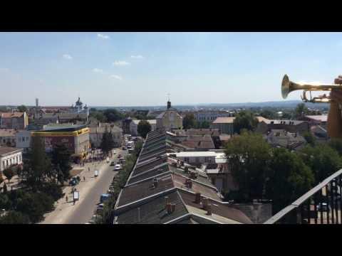 Коломия_775: Сурмач вітає коломиян з ратушевої вежі (03.09.2016)