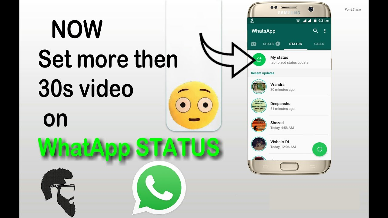 Set More Then 30 Seconds Video On Whatsapp Status
