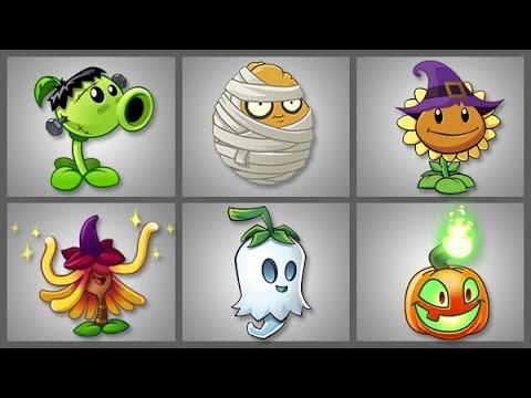 Plants vs zombies 2 las plantas de halloween patio de la for Cuartos decorados de plants vs zombies