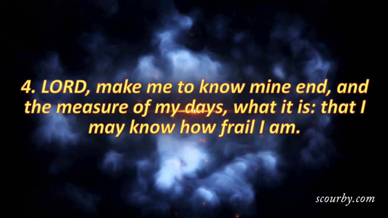 Daily Audio Bible Reading--Psalm 39:1-6--KJV Bible-