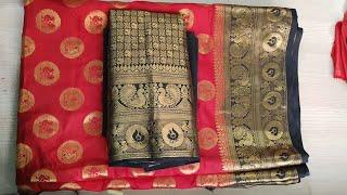 Paithani blouse back neck design cutting and stitching /patchwork blouse design