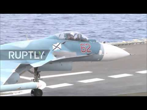 Syria: Russian fighter jets conduct missions from the Kuznetsov aircraft carrier