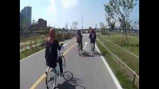 Cycling around Yeouido Hangang Park - Trip to Korea April 2016 (Spring Season) - Stafaband