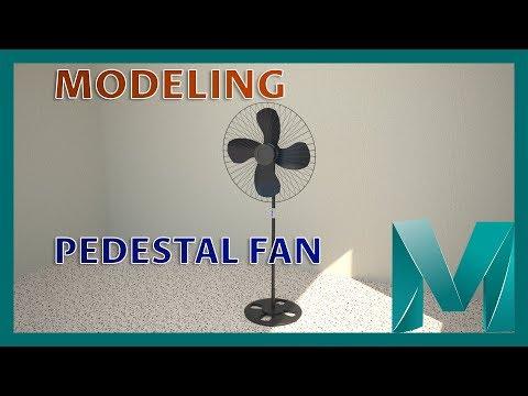 Modeling a Pedestal Fan || Autodesk Maya 2018 Tutorials
