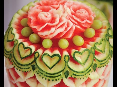 Extrem Les plus fabuleuses sculptures sur fruits et légumes - YouTube IN43