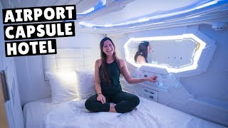 THAILAND CAPSULE HOTEL (sleeping in the Bangkok airport)