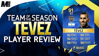 FIFA 16 TOTS TEVEZ REVIEW (91) FIFA 16 Ultimate Team Player Review + In Game Stats