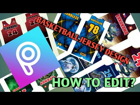 How To Edit A Basketball Jersey Design On PicsArt | Basic Editing