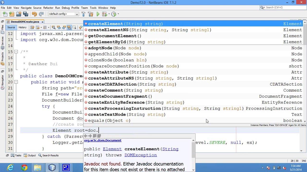 Java Code Creat New Data Write Xml File Using Dom Example