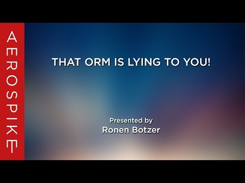 That ORM is lying to you