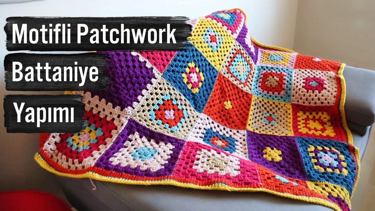 Motifli Patchwork Battaniye Tarifi