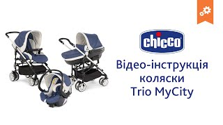 Коляска Chicco Trio MyCity. Инструкция по сборке.(Видео-инструкция по сборке коляски трансформера Chicco Trio Love. Будем благодарны за отзыв об эксплуатации товар..., 2016-07-20T09:34:55.000Z)
