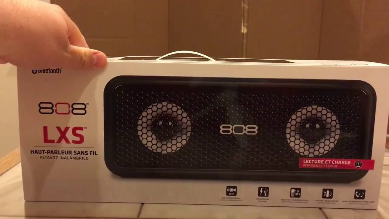 808 LXS Wireless Bluetooth Speaker Unboxing