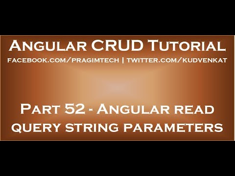 Angular read query string parameters