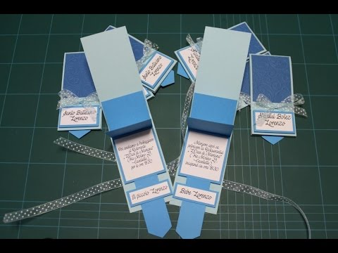 waterfall card inviti battesimo baptism invitations diy