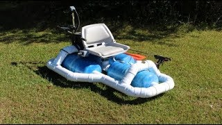 Homemade solar powered fishing boat