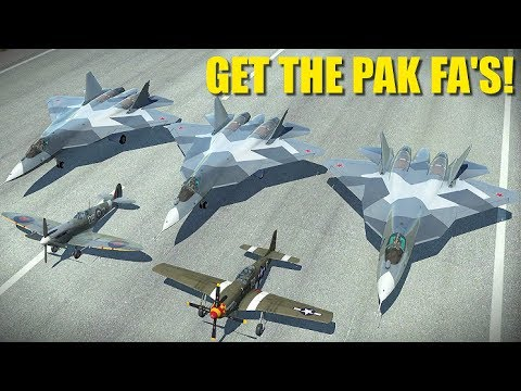 Reapers Borrow Russian Stealth Fighters | T-50 PAK FA P-51 Bf-109 Mig-15 | DCS