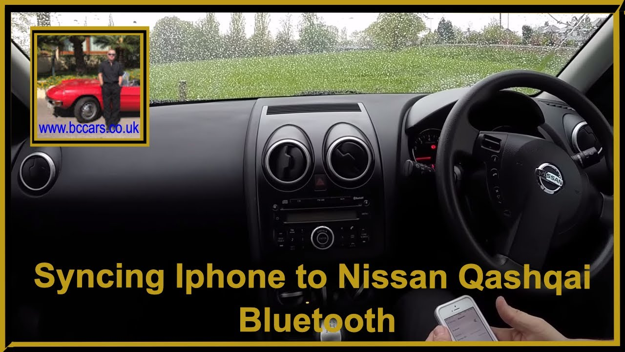 how to sync iphone to car syncing iphone to nissan qashqai bluetooth 19124