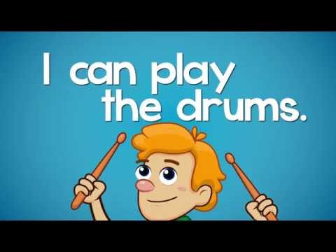 Can You Play The Drums | Learn Body Parts