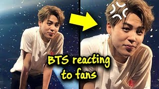 BTS reacting to fans 💜😆