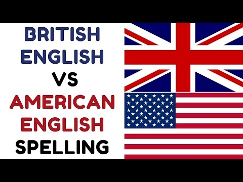 British English Vs American English Spelling
