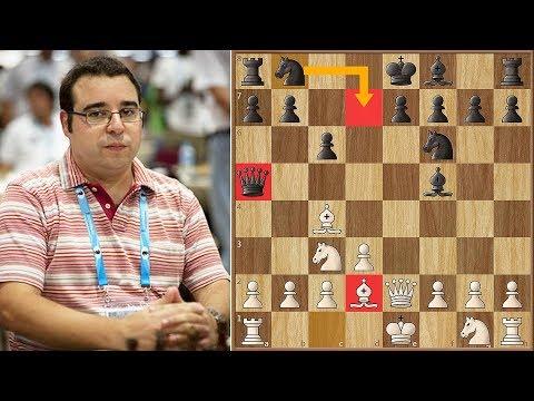 Grandmaster Loses in 7 Moves! | Candelario vs Rizouk | Batumi Chess Olympiad (2018)