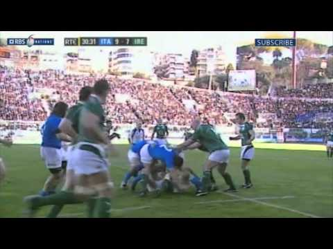 Ireland beat Italy on route to 2009 Grand Slam Part 1