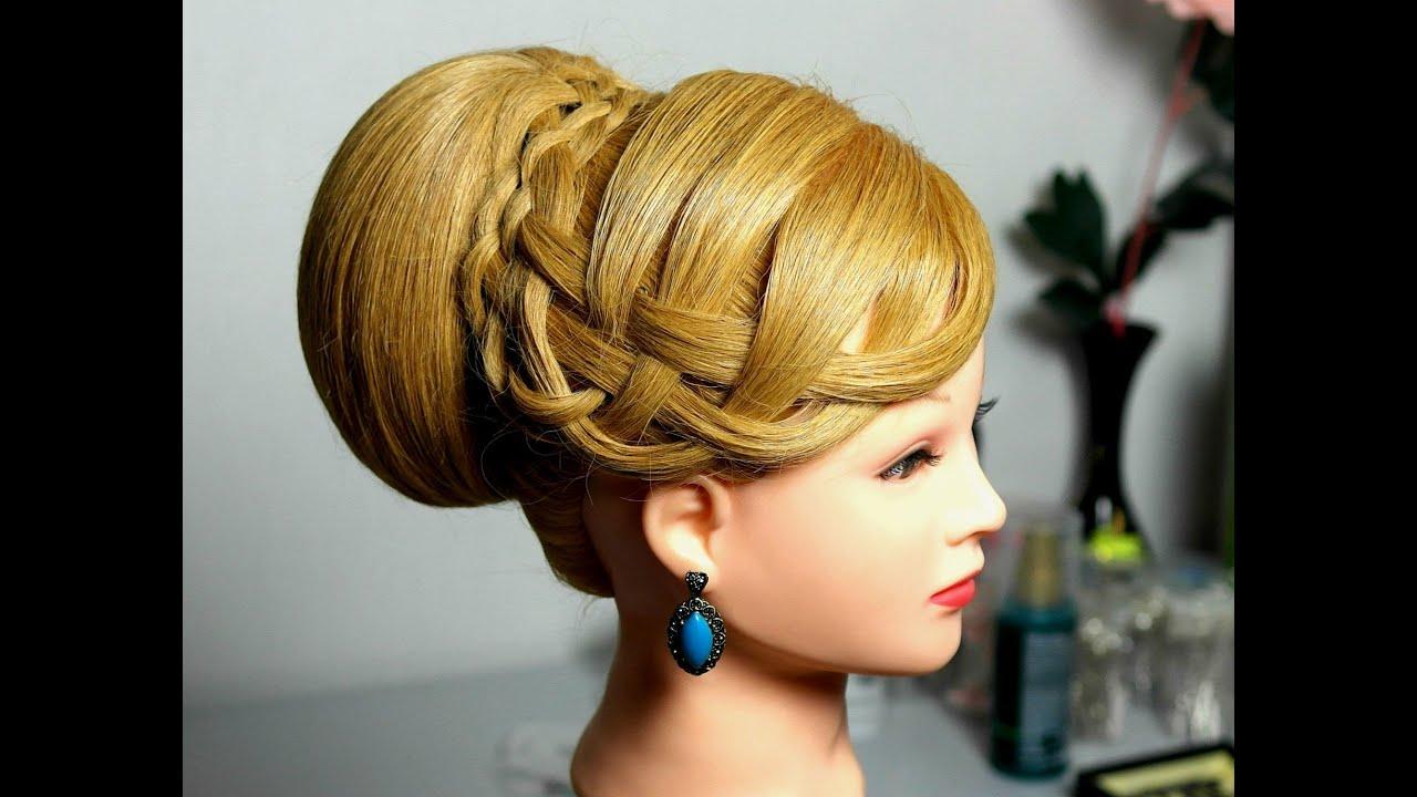 Elegant Hairstyle For Medium Long Hair Bun Updo YouTube
