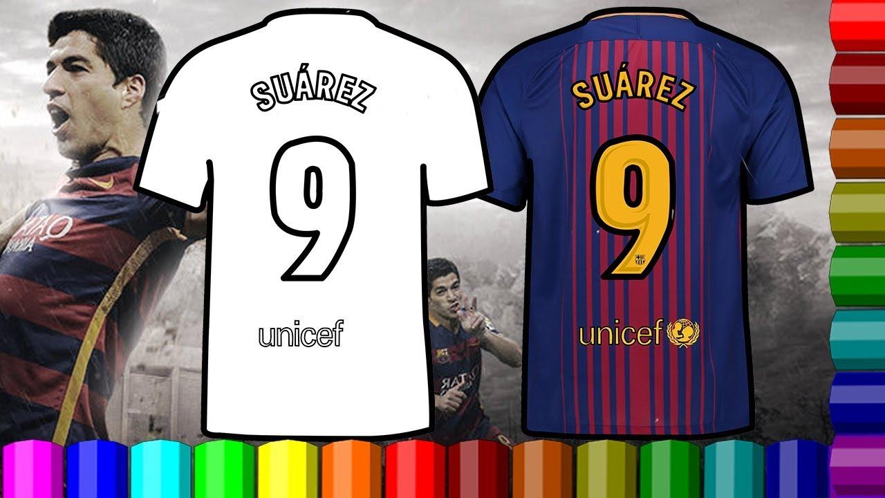 los angeles 8888d 2cf7d luis suarez jersey | Barcelona Forward player luis suarez | jersey Coloring  Pages #Dirty Drawing