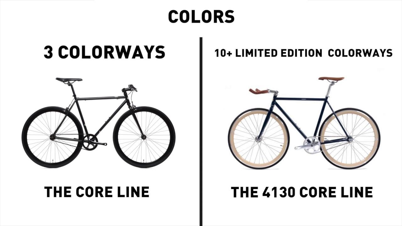 STATE Bikes Core-Line & 4130 Core-Line Comparison - YouTube