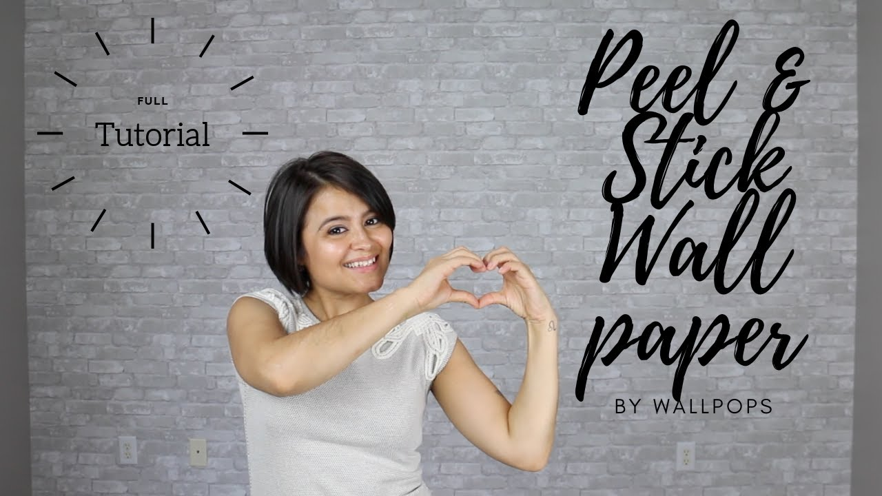 How to Install Peel and Stick Wallpaper - YouTube