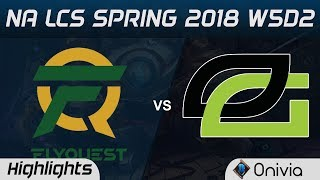 FLY vs OPT Highlights NA LCS Spring 2018 W5D2 FlyQuest vs Optic Gaming by Onivia