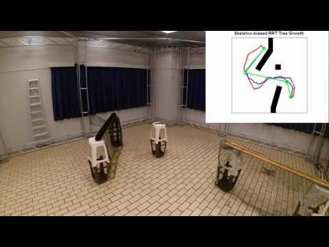 Faster RRT-based Nonholonomic Motion Planning using Skeleton-constrained Path Biasing (skilled-RRT)