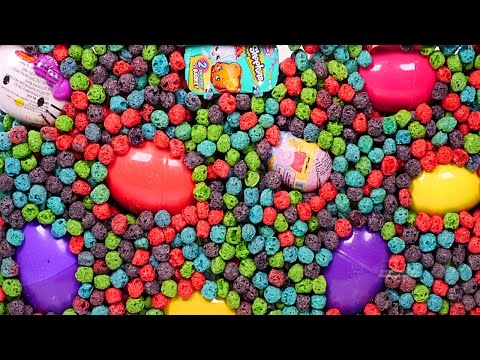 BIGGEST Toy and Surprise Egg Aquarium! Captain Crunch Berry Hello Kitty Peppa Pig Frozen Spongebob