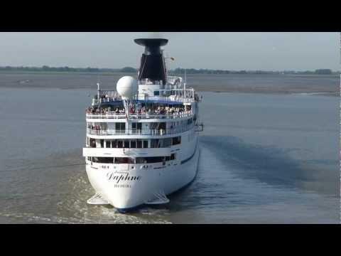 PRINCESS DAPHNE zum CruiseCenter Bremerhaven, 18.08.2012