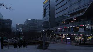 [4K 타임랩스] 판교 유스페이스 일몰의 도시 모습