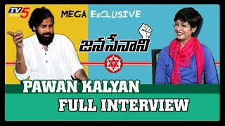 Pawan Kalyan Exclusive Interview | Sowjanya Nagar | Janasena Party | TV5 News Live