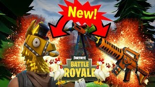 *New* Gold Llama Skin and Custom Guns! (Fortnite BR)