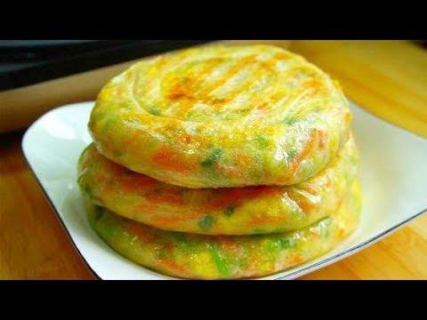 早餐饼这样做,薄皮大馅,馅料鲜嫩,凉了也不硬