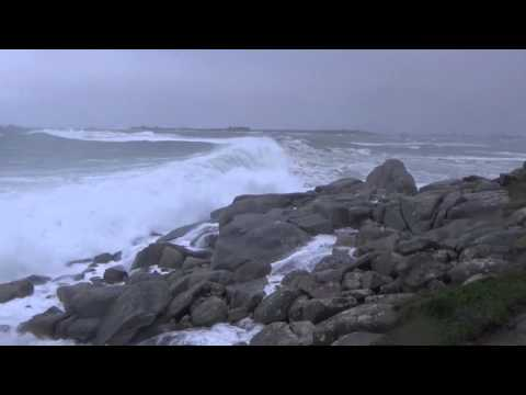 Tempête du 8 février 2016 sur la côte nord du Finistère (Santec, Moguériec et Cléder)